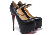 Hot sale Christian Louboutin Lady Daf 160mm Sheep Skin Black High heel