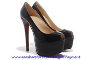 Christian Louboutin Highness Platform Pump 160mm Black Patent Leather