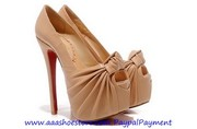 Wholesale Christian Louboutin Lady Gres Platform Red Sole Peeptoe Pump
