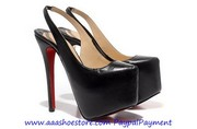 Wholesale Christian Louboutin Dafsling Platform Pump Black Sheep Skin
