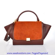 Wholesale Celine Trapeze in Multicolor Pony Royal Orange Brown Bags Fr