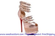 New Year Promotion hot sale Christian Louboutin Isolde Brown 160mm Fre