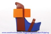 Wholesale United Nude Women Geisha Mid Ankle Strap Sandal Orange Free