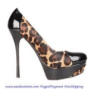 Wholesale Gianmarco Lorenzi Leopard Print Pony Skin Pump Paypal Paymen