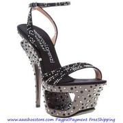 Wholesale Gianmarco Lorenzi Collector Cut Out Platform Sandal Black ww