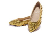 Wholesale Christian Louboutin Gloden Spike Woman Dress Shoes