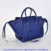 Wholesale Celine Luggage Phantom in Calfskin Blue Aaashoestore.com Pay