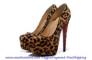 Wholesale Christian Louboutin Daffodile 160mm Sheep Skin Platform Pump
