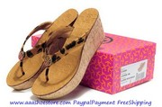 Wholesale Tory Burch Leopard ToryBurchora Mid Wedge Sandal Paypal Paym