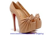 Christian Louboutin Lady Gres Platform Red Sole Peeptoe Pump 160mm She