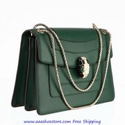 Wholesale Bulgari Shoulder Bag With Eyes In Malachite Big Green Paypal