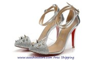 Christian Louboutin Picks&Co Potpourri Spiked Toe&Transparent Red Sole